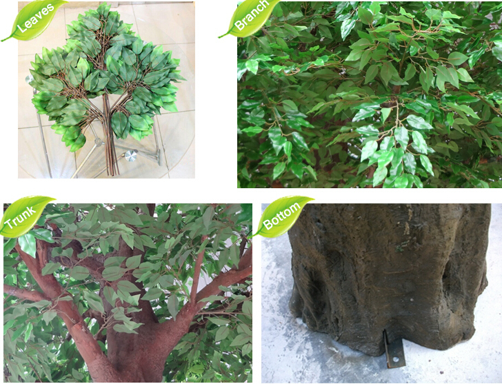 artificial model tree of ficus tree with white ficus leaf tree artificial plants of leaves - Ficus Trees