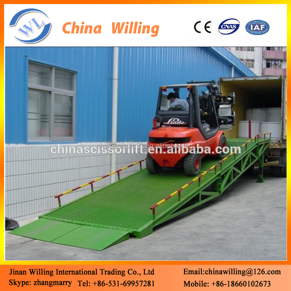 10 Ton Mobile Yard Dock Leveler Container Hydraulic Ramp Truck ...