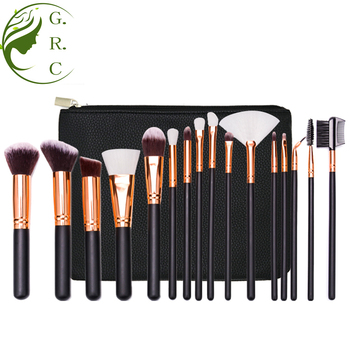 Free sample 2018 16pcs professional makeup brushes with soft synthetic hair