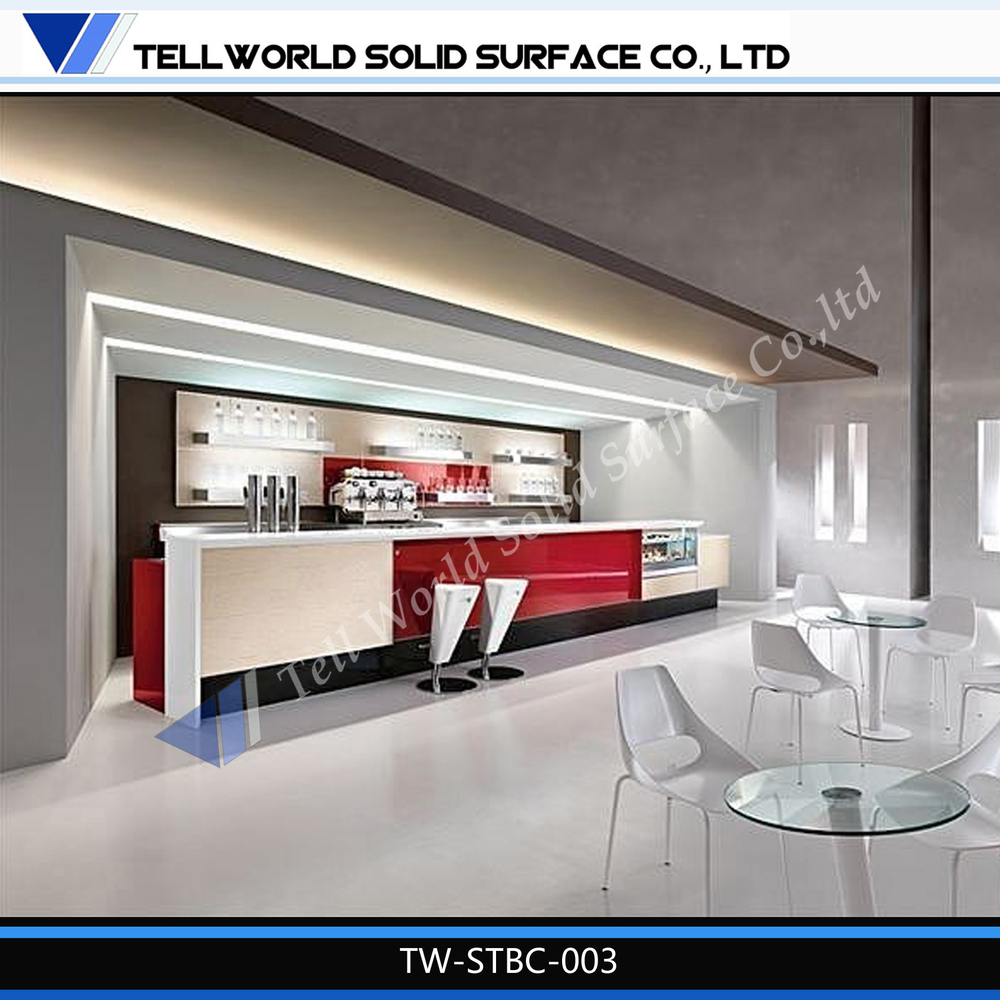 High Quality Stylist Coffee Bar Shop Counter Design L