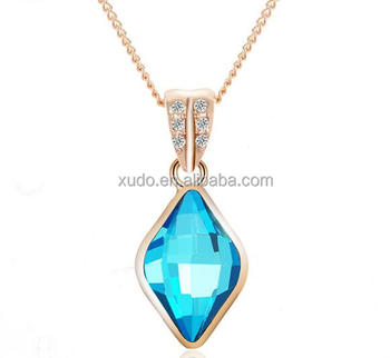 free shipping fashion crystal gold necklace 7 colors in stock