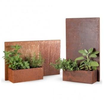 Weather Resistant 2mm Corten Steel Metal Rusty Half Round Wall