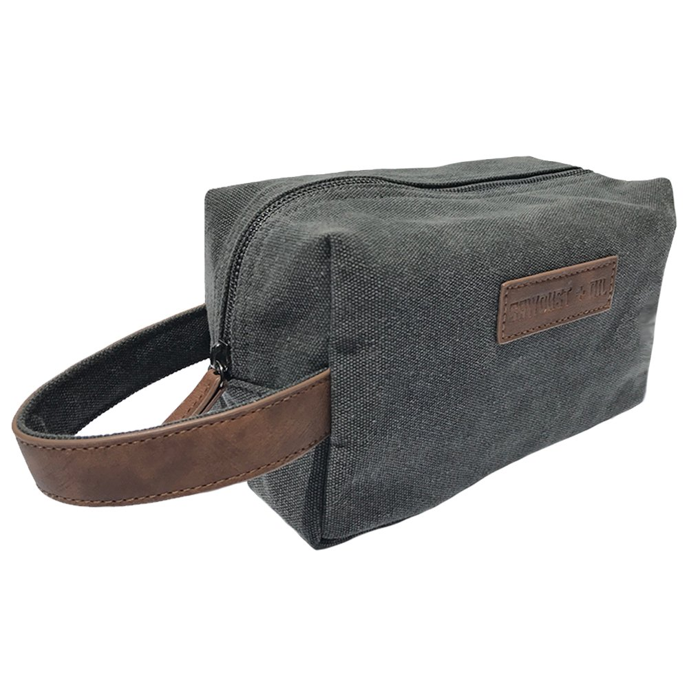 cb5c13ecaa Get Quotations · Canvas Travel Toiletry Organizer Shaving Dopp Kit by  Sawdust + Oil 9-inch Cosmetic Makeup