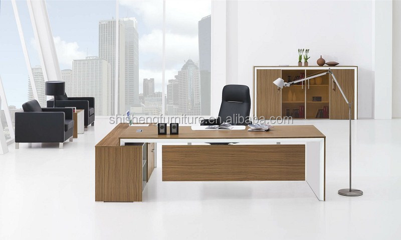 Nieuwe directiekantoor tabelontwerp luxe moderne executive