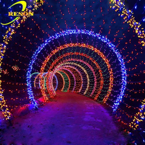 Wedding Party Decoration Led Flower Arch Motif Light For Garden Street