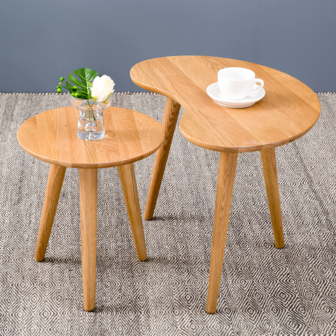 new nordic cr ative table de salon ovale table basse petite table ikea meubles blanc bois de. Black Bedroom Furniture Sets. Home Design Ideas