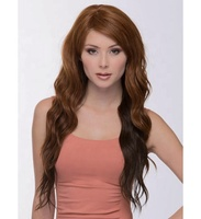 Low price wholesale New Fashion long deep wave brown wig Synthetic hair Wigs for Europe and America fashion girl