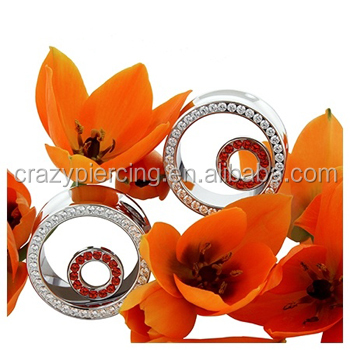 Genuine Passion Topaz Ear Gemstones Tunnel Plugs Body Jewelry ...