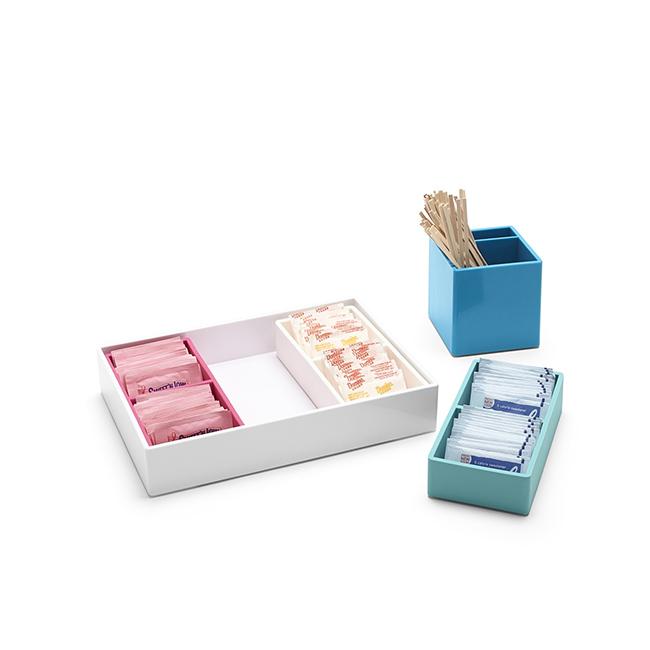 Moderne Büroschubladen-Verwirrungstabelle Mittlerer Plastiktischorganisator der Ablageschale