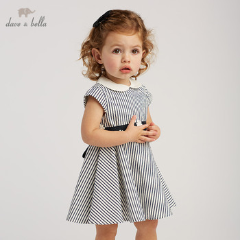 Hot Baby Kids Clothes Party Stripe Short Sleeve Vestidos Girls Dresses