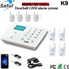 Saful K9 New arrival manual touch button wireless gsm security auto dial alarm system