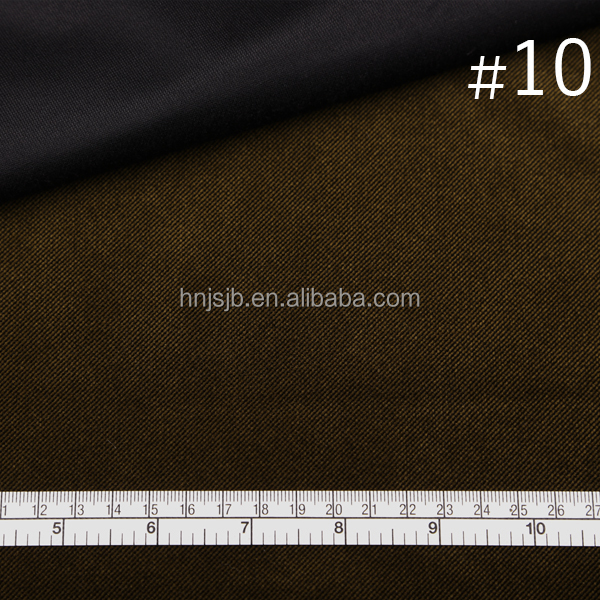Dark brown color cationic polyester velvet fabric for dress shoes material