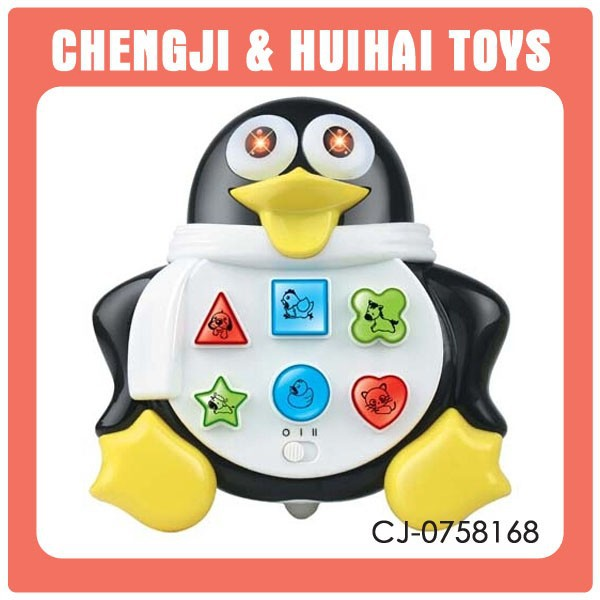 animal toy musical b/o small plastic penguin toy
