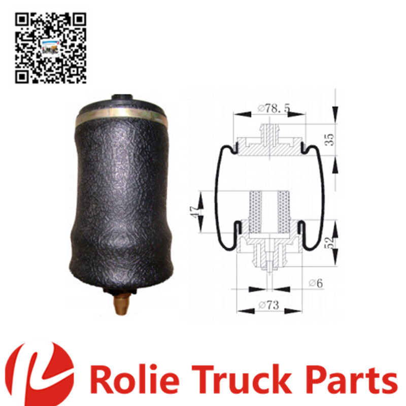 Freightliner heavy duty truck parts oem 1829919000 rubber air spring bag suspension air bag firestone shock absorber