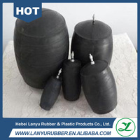 inflatable rubber sewer pipe plugs for pipeline drainage