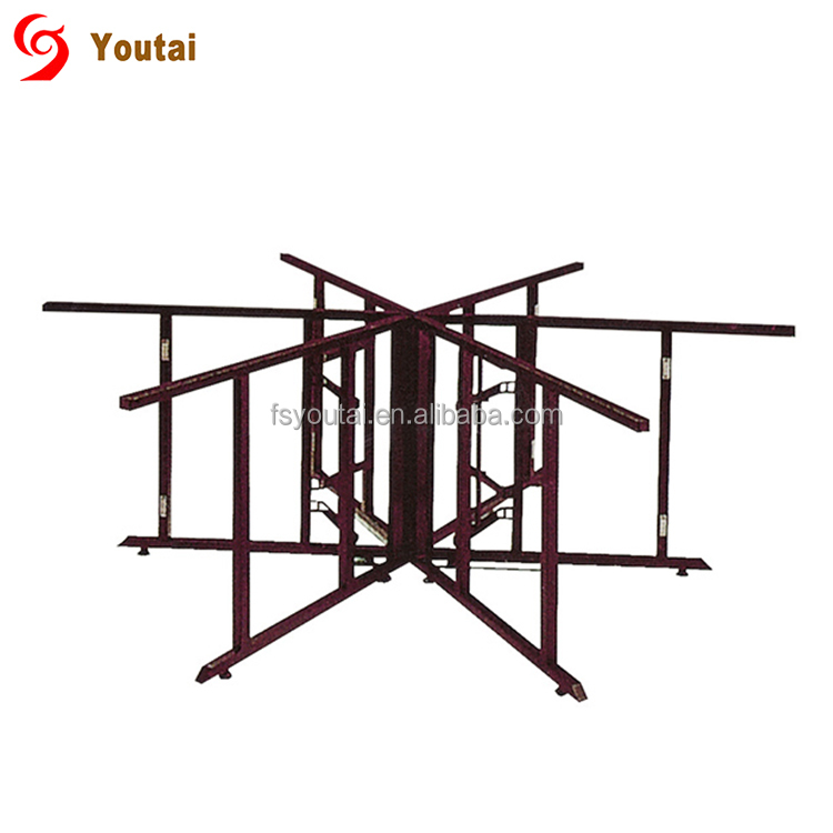 plywood round folding catering table