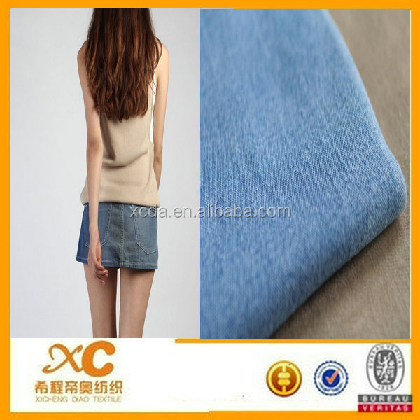 denim mini skirts jeans roll made in China cotton spandex fabric textile company