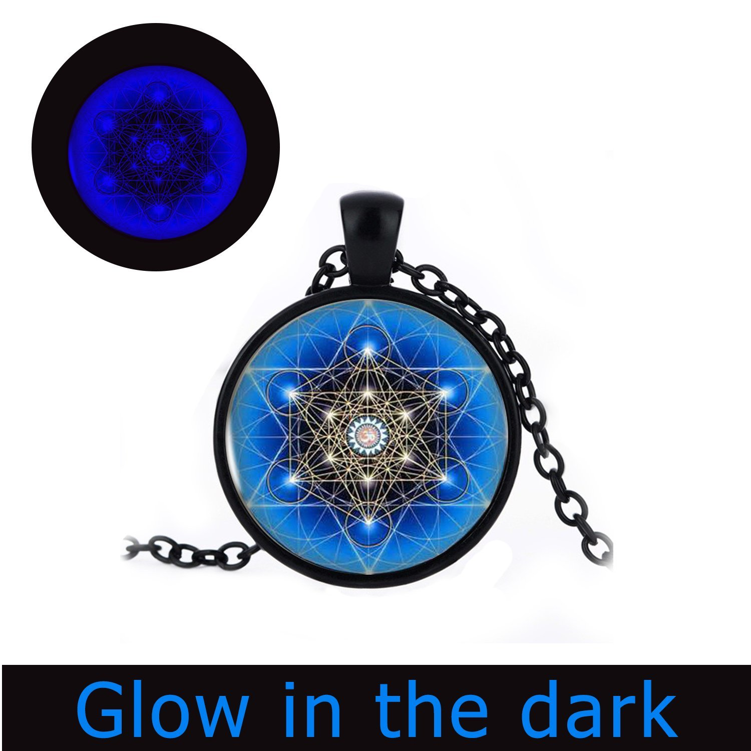 Pentagram Pendant, Glow in the Dark ,Pentagram Glowing Necklace, Pentagram Jewelry, Wiccan Necklace, Wiccan Pendant, Wiccan Jewelry, Astrology Pendant