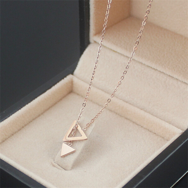 Yiwu Aceon Stainless Steel rose gold triangle charms china wholesale replica jewelry