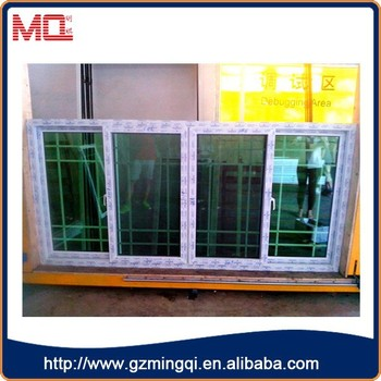 French Style Pvc Green Gl Window Tint With Screen Grill Design