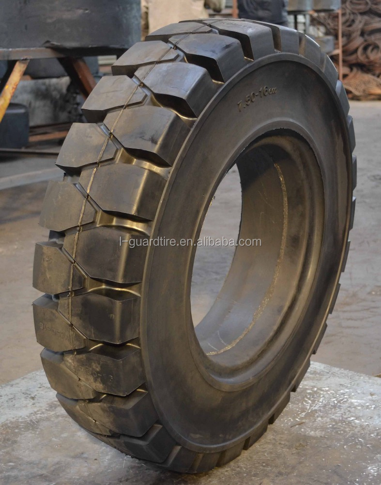 Quick solid tire 2.5ton tcm forklift specification forklift tires 7.50-16