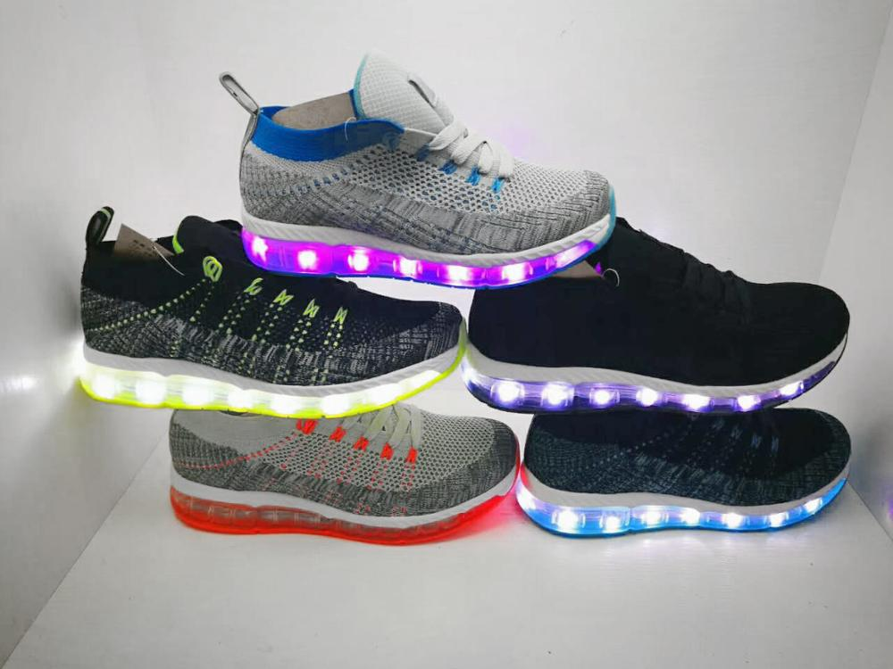 Led light up sport shoes for men