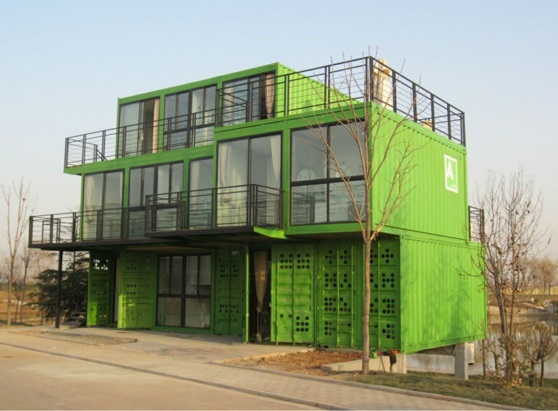 2016 hot sale modern container house 20ft /40ft in prefab house high cube