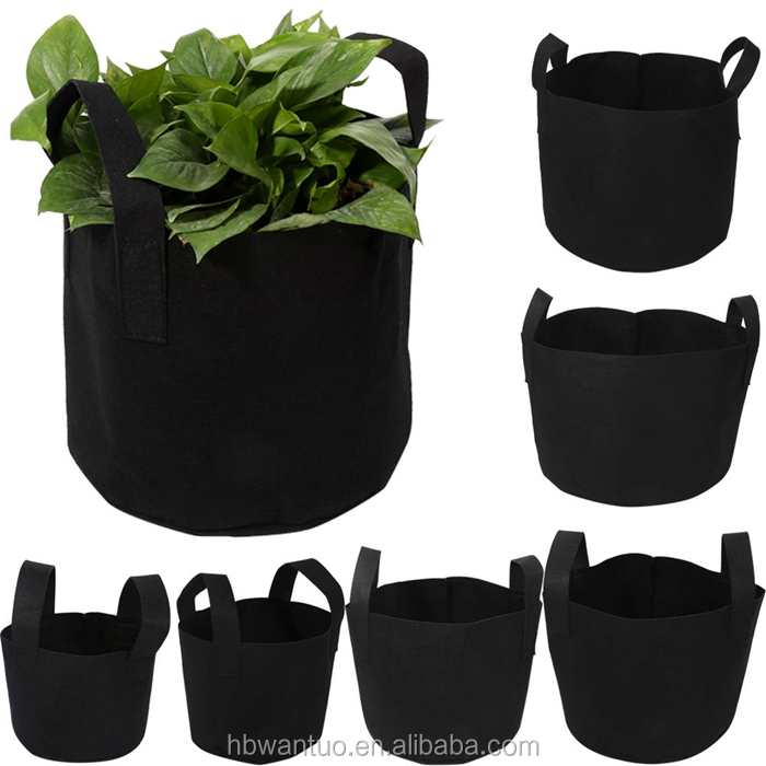 5 Gallon Planting Grow Bags Made Of Growth Friendly Felt/geotextile planting grow bags With Handle