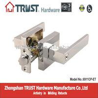 6911CP-ET:Trust Heavy-duty high security Tubular Zinc Alloy Lever door Lock