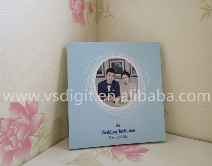 Low price custom wedding invitation lcd video greeting card/ brochure card 5inch High quality