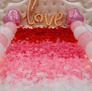 love heart silk flower rose petals for wedding decoration