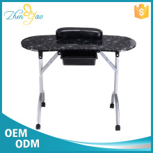 Flower Printing Nail Desk Pedicure Manicure Table Kids Salon Furniture