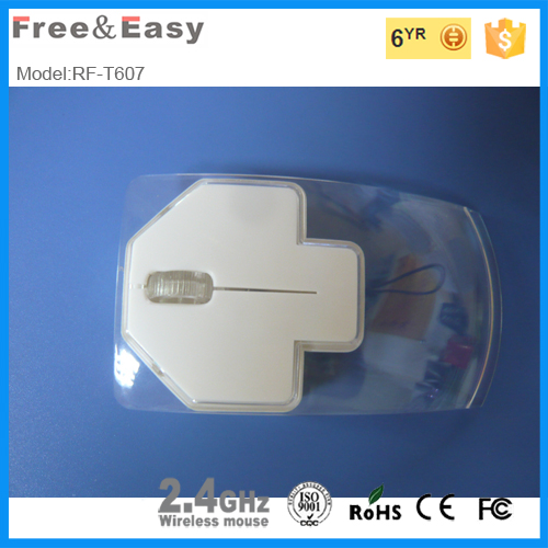 2015 New crystal wireless arrow mouse with nano receiver