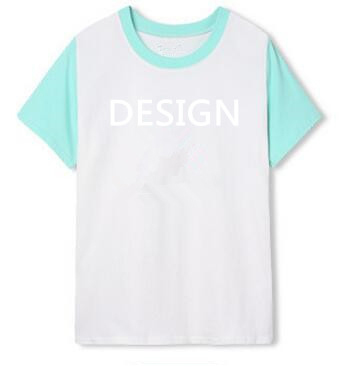 Custom Logo Print Women Round Bottom t shirt