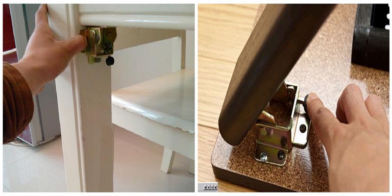 90 Degree Self Lock Folding Table Legs Hinge Furniture