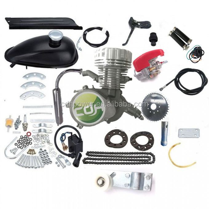 2 stroke CDH Super PK80/silver with CNC Head/ 80cc bicycle motor/ motorized bicycle engine kit 80cc