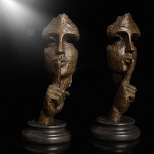 Modern art tabletop Decoration Bronze Man Face Abstract Statue Sculpture