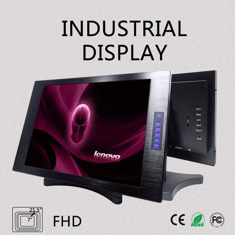 3d computer monitor stand type monitor for pos with high brightness