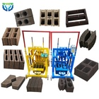 Manual Hollow Brick Block Maker Concrete Cement Brick Block Making Machine Price