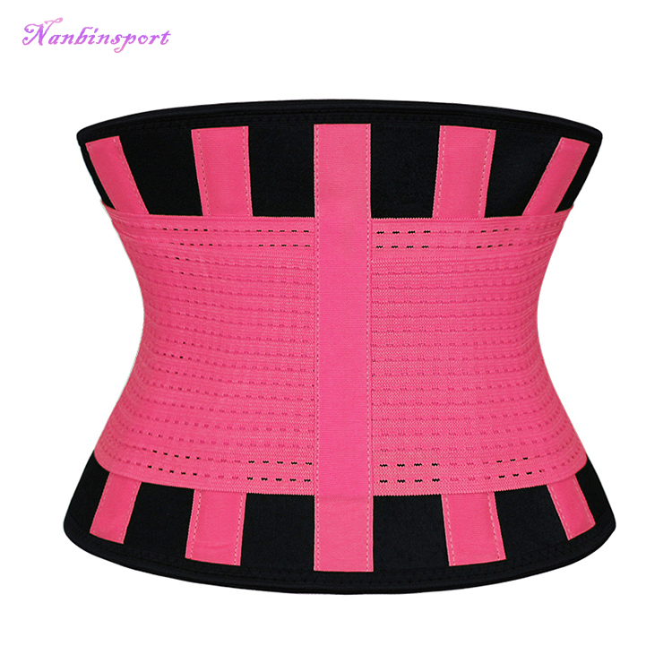 NANBIN YKK Zipper Factory Wholesale Private Label Tummy Slimming Belt Waist Trainer Trimmer Belt