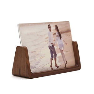 Simple Design Frame Home Use Wedding Photo Baby Photo Display Handmade Wooden U Shape Photo Frame