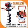 ED520 earth auger,2-stroke earth drill for drilling holes
