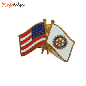 Wholesale Custom Metal American Rotary National Country Flag Lapel Pin