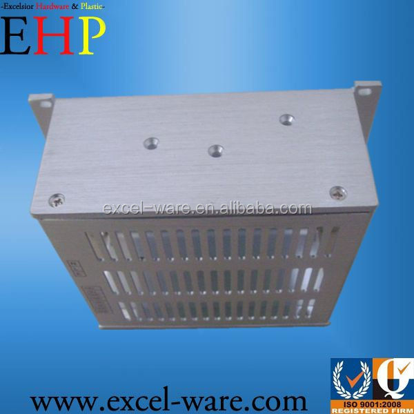 Electronics Enclosure fabricated by Sheet Metal: steel or aluminum plate