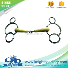 SS Snaffle 비트 Rooler 링크 <span class=keywords><strong>플라스틱</strong></span> 더블 관절 입