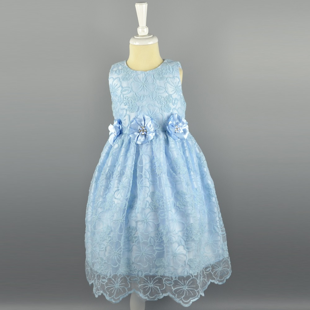 Factory Price Polyester Cotton Lace Fabric Fancy Dresses For Baby ...