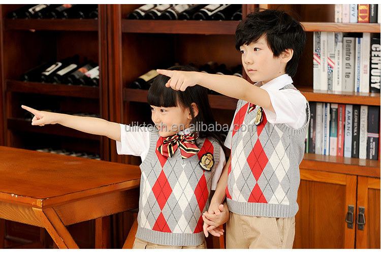2016 Korean school uniform design for high school uniform sweater cardigan wholesale (S013)