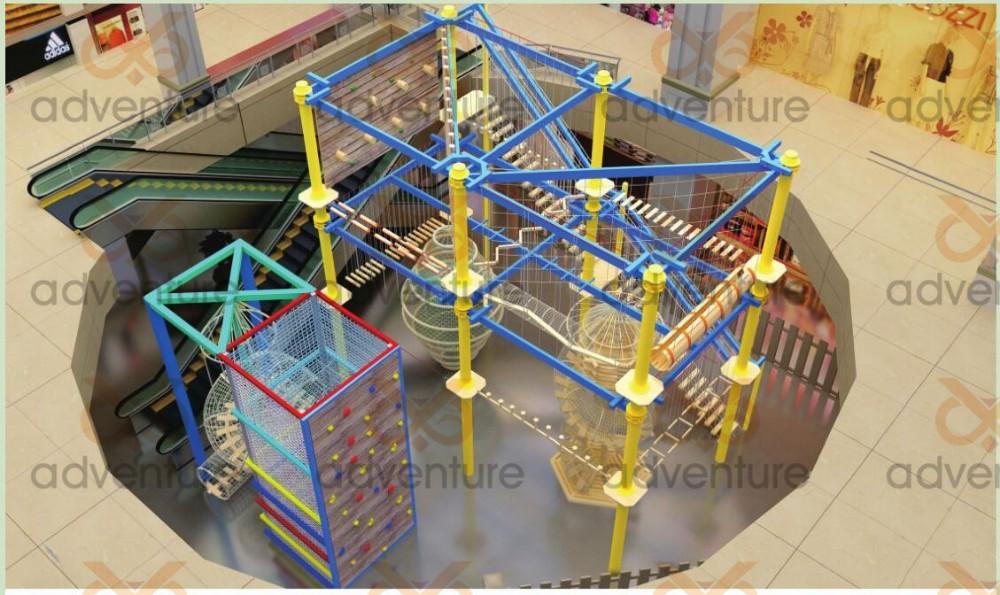 Klettergerüst Aus Seilen : Kinder indoor spielplatz seile natürlich und klettergerüst