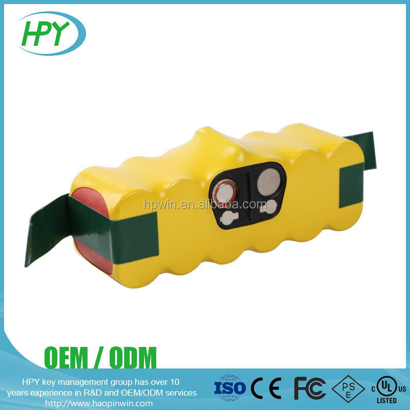 14.4v Nimh battery pack 3.5Ah roomba vacuum cleaner battery
