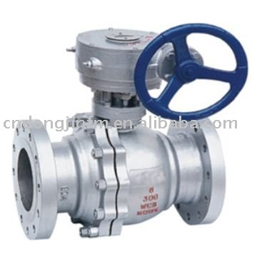 Ball Valve With Worm Gear Actuator
